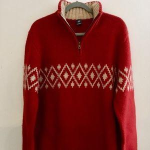 Gap Sweater 100% Lambs Wool Red